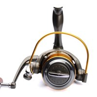 Wholesale Spinning Reel Painting - 10BB mirror painting spinning reel aluminum spool handle carp fishing wheel with spare spool Front Rear drag fishing reel 5000