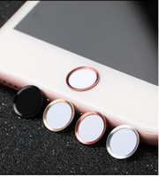 Wholesale Aluminum Home Sticker - Finger Identification Touch ID Home Button Sticker Aluminum Ring for iPhone 7   7 Plus   6s 6 plus  5s 5, With retail package