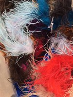 Wholesale Sexy Nurse Costume Wholesale - Sales Promotion 2Yard 1Ply Oatrich Feather Boa Scarf For Wedding Dress Decoration 2pcs Lot Free Shipping