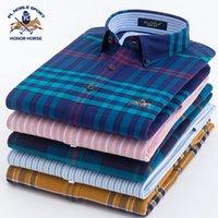 Wholesale Thickening Plaid Shirt - 2017 Designers Brand 100% Cotton Quality Plaids Shirt Men Spring\Autumn Casual Shirts Thicken Brushed Fabric Slim Fit Dress Shirt