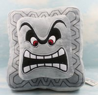 """Wholesale Mario Figures 23cm - New Gray 1 PCS Baby Toy Super Mario Bro Angry Bricks Stuffed Plush Dolls with Tag Pillow Cushion Approx 23cm 9"""""""
