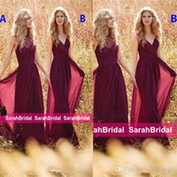 Wholesale Different Style Chiffon Bridesmaid Dresses - 2017 Bridal Party Wear Maxi Elegant Long Boho Country Mismatched Different Styles Bridesmaid Dresses Cheap Special Occasion Gowns