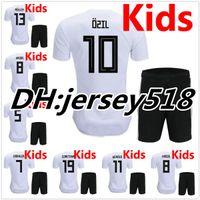 Wholesale Germany Black Jerseys - 2018 World Cup Germany kids soccer jerseys 2018 home jersey shirt MULLER OZIL GOTZE REUS KROOS HUMMELS Children Football Shirts