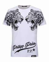 Wholesale Brand Mens Shirts Cheap - Cheap Mens T-shirts Double Tiger Heads with crystals 3D Printed Polo t shirts Brand Short Sleeve Casual Male Tee Shirt 18234