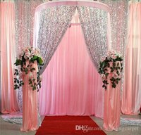 Wholesale Cloth For Dancing Party - Glitter Bling 9mm Sequins Fabric For Wedding Table Cloth Decorations Backdrop Wedding Gauze Background Curtain Sequined Fabric