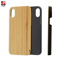Wholesale Oem Phone Accessories - Original Bamboo Phone Case for iPhone X Hard PC Back Protector Coque Blank Wood Accessories OEM Custom LOGO Brand Photo Cover for Apple