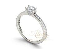 Wholesale Cheap Diamond Wedding Rings Set - cheap price wholesale prong setting engagemen ring for female, 925 silver diamond round shaole wedding ring BER0257