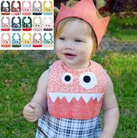 Wholesale Dribble Bibs - 15 Styles INS Big Eye Monster Bibs With Cute Teeth Baby Bibs Soft Infant Saliva Towel Toddler Absorbent Dribble Burp Cloth CCA7216 300pcs