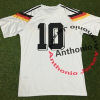 Wholesale Thailand Soccer Jerseys Free Shipping - 1990 Germany RETRO VINTAGE CLASSIC soccer jerseys thai quality soccer jersey thailand Free Shipping football shirts kit