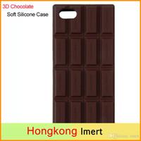 étui iphone 3 chocolat achat en gros de-3D Chocolat Barre Look Silicone Housse Etui Peau Pour iPhone 5 5S Hot Worldwide 2017