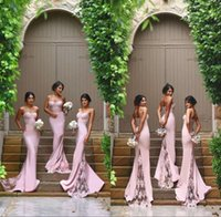 Wholesale Hot Coral Dress Spaghetti Straps - Cheap Sexy Mermaid Column Bridesmaid Dresses 2016 Spaghetti Straps Sweetheart Hot Pink Lace Backless Bridesmaids Maid Of the Honor Dresses