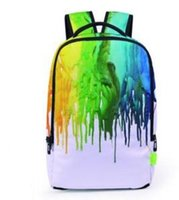 Wholesale girl 3d painting - Foil Paint Splatter 3D Printed Outdoor Backpacks Boy Girl School Student Bag Travel Bags Hiphop Backpacks BB055BLTravel backpackconvenient