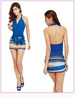 Wholesale Cheap Empire Waist Mini Dresses - cheap the new spring and summer 2016 Sexy Ladies Club air bag hip V collar XXL waist dress LYQ141
