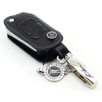 Wholesale Buick Encore - Genuine Leather car Key Case for BUICK ENCORE REGAL GL8 LaCrosse Verano Remote Flip Key 4 Buttons black keyring auto accessories