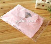 Wholesale Self Adhesive Bags Large - 38*51cm Large clothes packaging Resealable half Transparent Bag Self Adhesive Seal