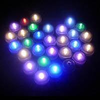 ingrosso impermeabilizzazione elettronica-Plastica LED 12 pz / lotto Romantico Impermeabile Sommergibile Led Tea Light Candela Elettronica per Decorazione Festa di Natale