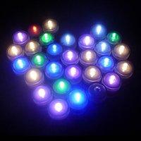 wasserdichte kerzen licht großhandel-Plastik LED 12pcs / Lot romantisches wasserdichtes versenkbares geführtes Tee-Licht-elektronisches Kerzen-Licht für Hochzeitsfest-Weihnachtsdekoration