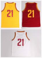 Wholesale Cheap Free Size White Shirts - Cheap Hot Sale 2014 champion 21 basketball jersey Stitched Embroidery Stitch Logos shirts Free fast Shipping Size S--XXL Allow Mix Order