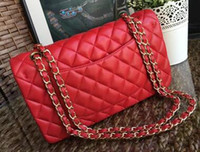 Wholesale Womens Fashion Tops Small - 2017 Classic brand womens handbag top quality pu chain shoulder bags purse 26cm c bags more colors with free shipping
