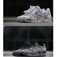 black white marble flooring - Mens And Womens GEL LYTE III Marble Injection Sneakers Sports Runing Shoes