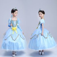 Wholesale Cotton Corduroy Girl Dress - Baby & Kids Clothing Cosplay & Costumes Halloween Day Christmas Classic Fairy Tales Princess Sophia Dresses Stage Performance Dress