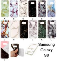 Wholesale Marbles Free Shipping - High Quality Soft TPU Marble Skin Back Cover Case Protector Phone Plastic Cases For Samsung Galaxy S8 S8plus Free Shipping