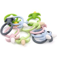 Wholesale Nurses Wholesale Gifts - BPA Free Silicone Baby Corn Teether Ring Pendant Safe Silicone DIY Baby Shower Pacifier Dummy Nursing Teether Toy Accessories