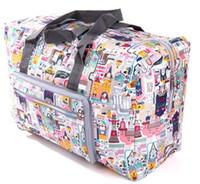 Wholesale Dots Luggage - Waterproof Travel Bag Fashion Foldable Nylon Bags Large Capacity Women Totebag Casual Ladies Luggage Weekend Bags Travel Bag 55 bag Bolsa