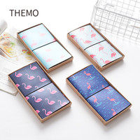Atacado- PU Leather Cover Planner Notebook Jornal de viagens Flamingo Diary Book Exercise Composição Binding Note Notepad Gift Stationery