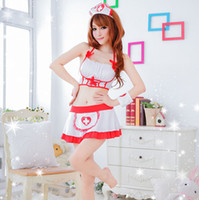 Wholesale Nurse Cosplay Women Sexy Nurse Costumes Exotic Uniform Sets Female Soft Elastic Sexy Lingerie Cosplay Nurse Bra and Skirt