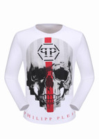 Wholesale Skull Sweaters Men - Winter Long Sleeve Shirts Mens Polo T-shirts Slim Sweater Mosaic Skulls & Diamonds 3D Printed Tee Shirts luxury Sports Male Coats 18111