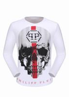 Wholesale Mens Argyle Sweater Xl - Winter Long Sleeve Shirts Mens Polo T-shirts Slim Sweater Mosaic Skulls & Diamonds 3D Printed Tee Shirts luxury Sports Male Coats 18111