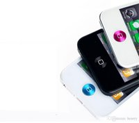 sticker iphone 5s pleine couverture achat en gros de-Superbes autocollants 300pcs de MAISON de texture un paquet, clés en métal minces attachées, appropriées aux autocollants de bouton de pomme d'iphone / ipad / ipod