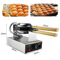 110V 1200W Other Hot 110V 220V Electric Egg Cookers Oven QQ Waffle Maker Stainless Steel Waffle Grill Egg Puff Machine
