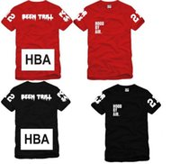 Wholesale Chinese Hood - Free shipping Chinese Size S---XXXL summer t shirt Hood By Air HBA X Been Trill Kanye West t shirt Hba tee shirt 4 color 100% cotton