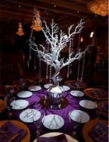 Wholesale Crystal Led Wedding Trees - Novelty Christmas simulation fake tree White wedding road led decoration with crystal bead