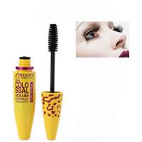 Wholesale hot curling brush - Wholesale-Hot Sale Black Eyelash Eye Mascara Silicone Brush Makeup Extension Length Cosmetic Brand Curling Long Black Mascara Eyelashes