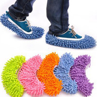 Wholesale Telescopic Cover - Dust Mop Slipper House Cleaner Lazy Floor Dusting Cleaning Foot Shoe Cover 5 Colors Drop Shipping