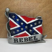 Wholesale Pewter Belt - BuckleHome rebel belt buckle confederate belt buckle with pewter finish FP-02268 free shipping