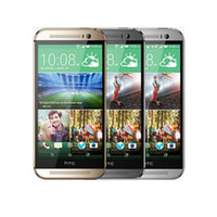 Wholesale Gsm 3g Support - Original Refurbished HTC One M8 Quad Core Cell phone 5'' touchscreen 2GB 32GB 1920x1080 support 3G WCDMA 2G GSM free shipping