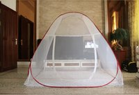 outdoor storage canopy - Summer Mosquito Net for Bed Portable Storage Dome Bed Curtain Mongolian Yurt Mosquito Net Double Door Zipper Bed Canopy Olympic Games