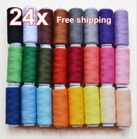 Wholesale Sewing Thread Purpose - 24 Lot Polyester Spools All Purpose Sewing And Quilting Threads Great Quality