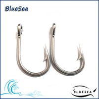 Wholesale Barbed Fishing Weights - Fishing Fishhooks 10884 4 0 *50 Pcs Pack Stainless Steel Triple Fishing Hooks Weighted Fishing Hook Circle Fish Hooks