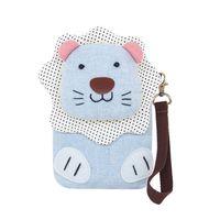 Wholesale Lion Wallets - Wholesale Lucky Lion Debris Bag Three Color Patch New Korean Version of The Lovely Canvas Phone Bag Ladies Wallet Bag