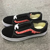 Wholesale Black Cotton Rope - 2017 V Old-Skool Sports Sneakers Men Women Rope Soled Causual Shoes Black Red Four Season Outdoor Shoes Size 36-44