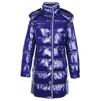 ingrosso giacca di parka rossa corta delle donne-Moda Inverno Giù Cappotti Donna Warm Shiny Slim Felpe Short Brand Designer Giacche da donna Outdoor Parka Outwear Coat Nero Rosso in vendita