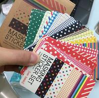 Wholesale Craft Masks Wholesale - Wholesale-27 pcs lot Washi Scrapbook Basic Pastel Masking Tape Craft Stickers Pack DIY Album Diary Decorative Labelling Art Adhesives