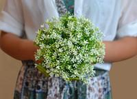 Wholesale Western Wedding Bouquets - Natural Green Beach Summer Bridal Bouquets For Garden Wedding Suppliers High Quality Bridesmaid Bouquet Satin Western Romantic Handmade