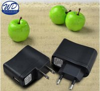 Wholesale Ecig Wall Chargers - Universal Wall Chargers Electronics for Ecig Mobile Phone PDAs MP3 Chargers US Adapter UK GB Plug USB Wall Travel Charger TOP Quality
