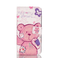 Tower Cat Bear Elephant Wallet Suporte de suporte de couro para Iphone 6 6s mais Samsung S6 S7 edge A310 A510 J1 J5